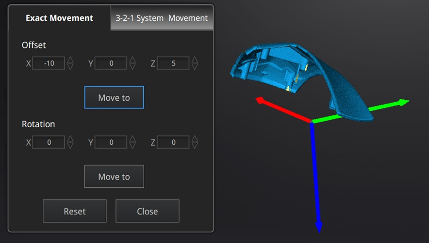Exact Movement; EXScan Pro Version 3.3
