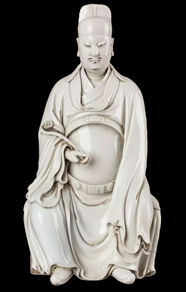 """""""Wenchang Lord"""" seated statue"""