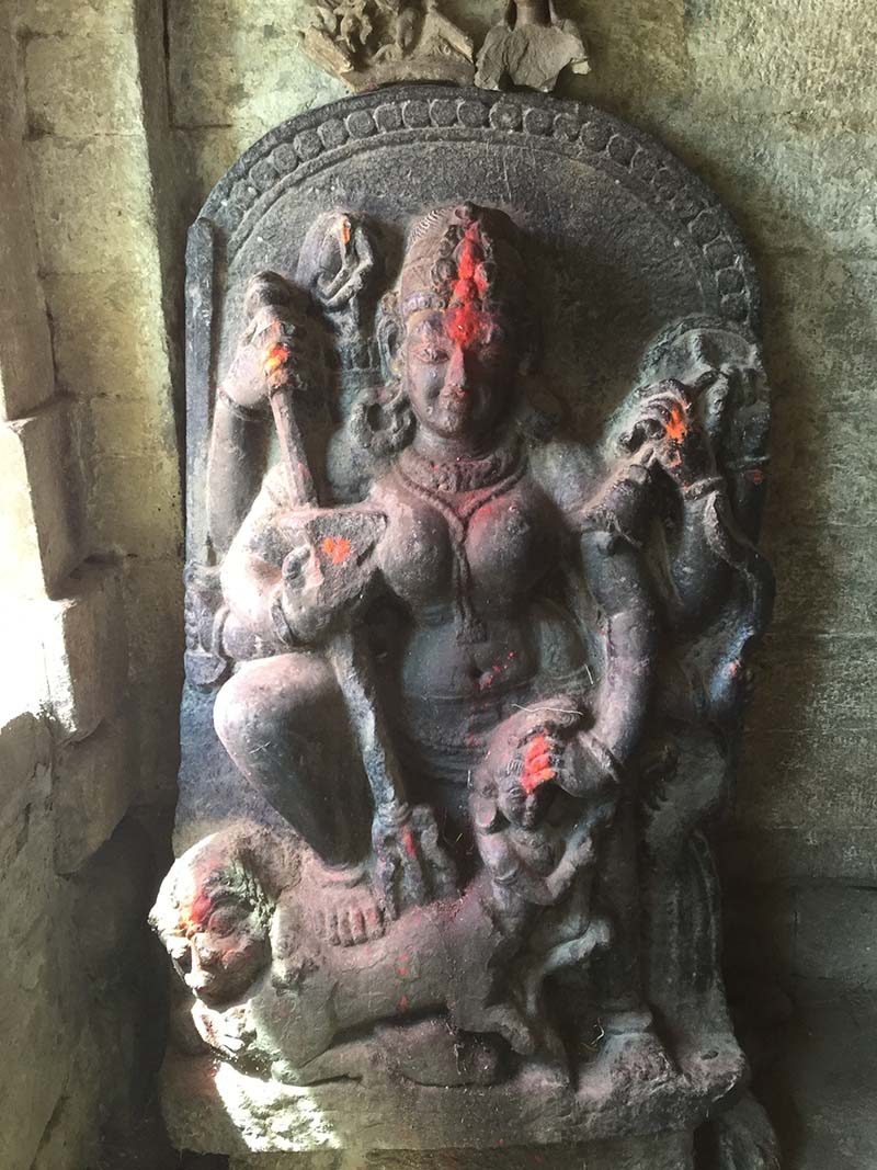 The sculpture of the goddess Mahishasuramardini at Ranihat