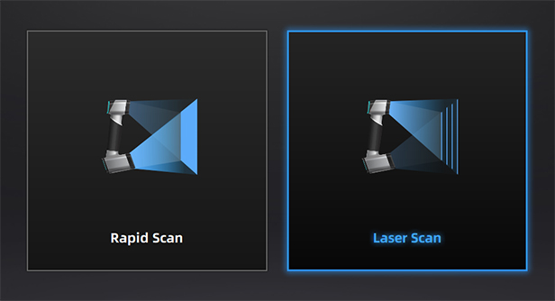 2 scan modes for different applications