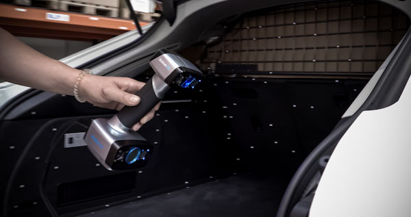 3D scanning in laser mode with the EinScan HX