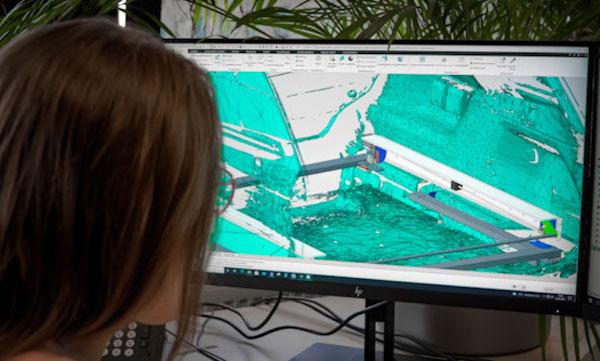 CAD design of 3D scanned data